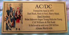AC/DC Malcolm YOUNG  Photo  Gold  Plaque ************Free Postage**********