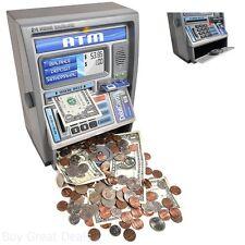 Coin Saving Money Box Jar Automatic ATM Machine Piggy Bank Children Kids