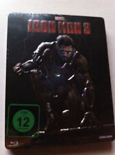 IRON MAN 3 - STEELCASE EMBOSSED - Blu Ray Region A,B,C - Star Metal Pack