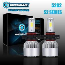 2x 5202 2000W LED Headlight Bulbs Fog Lights Conversion Lamps Kit 6000K 300000LM
