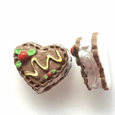 6PCS coffee coLOR cake love Flat Back Resin Scrapbooking For phoneCraft
