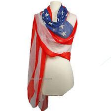 KIRKS FOLLY STARS & STRIPES USA  AMERICAN FLAG SCARF / SHAWL