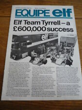 "ELF TYRRELL ""EQUIPE ELF"" IN HOUSE MAGAZINE"