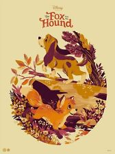 Tegan White - The Fox and the Hound - variant screen print MONDO DISNEY CYCLOPS
