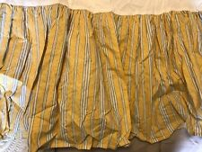 Yellow Striped Dust Ruffle Bed Skirt Full New Bloomingdales