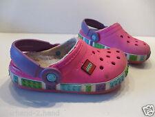 AKTION # org. CROCS LEGO Gr 29 - 31 pink Fell Mädchen Schuhe Pantoffel Schlappen