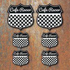 Cafe Racer set adesivi Blk Moto Motocicletta Casco Corse Motociclista Bilanciere