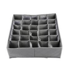 Foldable 30 Slots Bamboo Made Home Storage Boxes Socks Ties Underwear Organizors