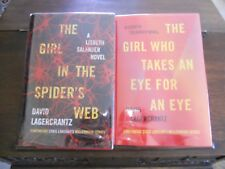 THE GIRL IN THE SPIDER'S WEB & EYE FOR AN EYE, David Lagercrantz, SIGNED 1sts