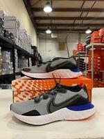 Nike Renew Run Running Shoes Gray Fog Black Racer Blue CK6357-009 Men's NEW