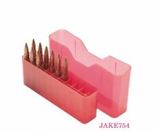 MTM Case J-20 Rifle Ammo Box Large  Rifle Holds 20 Rds Clear Red # J-20-L-29 New