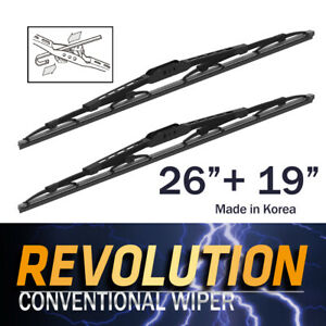 "REVOLUTION 26"" + 19"" Metal Frame Wiper Blades for Toyota Avensis Verso ACN21 MPV"
