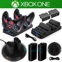 For XBOX ONE Wireless Controller Play Charging Dock+2x Rechargeable Battery Pack