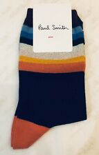Paul Smith Women Sock Made In Italy Cindy Signature Navy