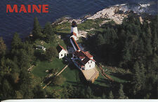 POST CARD OF A LIGHT HOUSE IN MAINE BURNT ISLAND LIGHT BUILT IN 1821