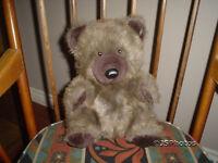 24K Corkie Brown Plush Teddy Bear Polar Puff 4889 11 Inch Vintage 1985