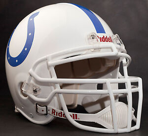 MARSHALL FAULK Edition INDIANAPOLIS COLTS Riddell AUTHENTIC Football Helmet