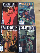 """SABRETOOTH  #s 1,2,3,4 : """"MARY SHELLEY OVERDRIVE"""" complete 4 issue series. 2002"""