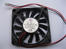 1 pcs Brushless DC Cooling Fan 13 Blade 24V 7010S 70x70x10mm 2 wire