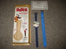Vintage Popeye 1986 Flip-It Watch LCD Quartz Olive Oyl Brutus Rare King Unused?