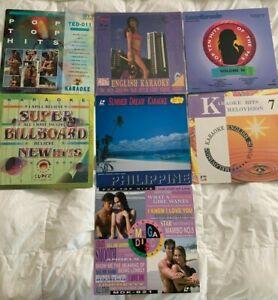 Lot of 7 English Karaoke Laserdisc Love Songs 90s Pop Hits