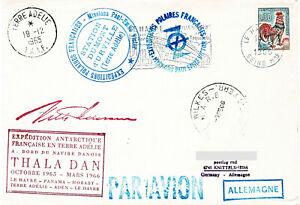 Polarpost: Expedition Antarctique Francaise - THALA DAN - Wilkes - 08.02.66