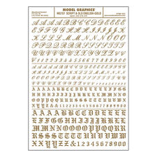 Script Old English Gold Dry transfer Sheet – Woodland Scenics MG757 – F1
