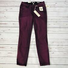 Vintage America Skinny Boho Jeans Size 8/29 Purple Stretch Mid NEW