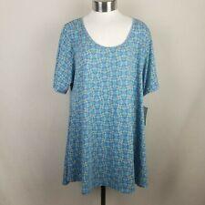 Lularoe Perfect T Women Blue Short Sleeve T-Shirt XL