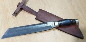 Custom Crafted KNIFE KING'S Damascus steel Tanto Machete Hunter