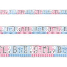 12ft Boy Or Girl Baby Shower Gender Reveal Party Foil Banner Decoration