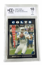 2008 Topps All-Star #1 Peyton Manning Indianapolis Colts BCCG 10 Mint