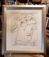 "JOSE LUIS CUEVAS Original Unique SIGNED Charcoal Drawing ""AMISTAD"" Museum Framed"