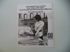 advertising Pubblicità 1971 ASSICURAZIONI SAI
