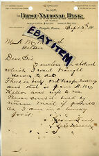 1900 Letterhead FIRST NATIONAL BANK Temple Texas DOWNS Willcox PATON Hutchison