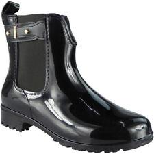 Womens Ladies Wellington Boots Winter Rain Flat Chelsea Ankle Wellies Shoes Size