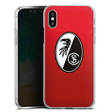 Apple iPhone X Silikon Hülle Case - SC Freiburg - Rot