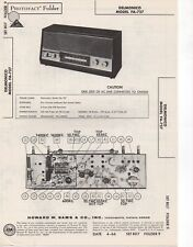 1966 DELMONICO FA-727 RADIO SERVICE MANUAL PHOTOFACT SCHEMATIC DIAGRAM REPAIR