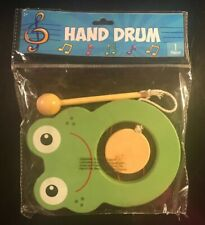 New Frog Hand Drum - Wood Toy