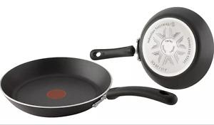 Tefal Cookware Aluminium Induction Frying -Sauce pans Non-stick Inside Out Black