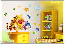 DIY Wall Stickers Winnie The Pooh Nursery Boy kids Baby Room Art Home Decals Dec