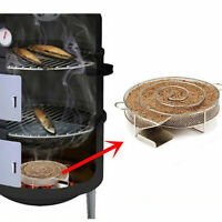 Stainless Steel Cold Smoke Generator BBQ Burn Smoker Box Grill Fish Salmon Meat