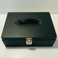 Office Depot Security Cash Box Latch Amp Key Metal Money Stash Box Grey With Tray