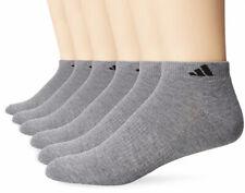 NWT Adidas Climalite Men's 6-Pack Gray Cushion Low Cut Socks Shoe Size 6-12