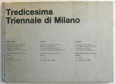 XIII TRIENNALE DI MILANO 1964 - ALDO ROSSI, AYMONINO, MUNARI, GREGOTTI, DOVA