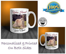 Afghan Hound Personalised Ceramic Mug: Perfect Gift. (D299)