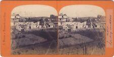 Belfort Siège de Belfort faubourg MontbéliardPhoto Braun Stereo Albumine 1870