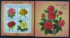 Aserbaidschan Azerbaijan 2014 Rosen Roses Blumen Flowers 1055-58 Block 143 MNH
