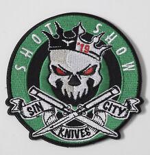 "LAS VEGAS ""SIN CITY KNIVES"" 2019 SHOT SHOW MORALE PATCH ~ AWESOME !!!"