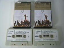 JESUS CHRIST SUPERSTAR VOL 1 & 2 CASSETTE TAPE ORIGINAL FILM SOUNDTRACK MCA 1973